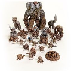 dnd Armies of the Earthenkind Complete Collection earth elemental Tabletop Scatter Miniatures RPG Warhammer D&D Dungeons and Dragons Dnd Dragons, D&d Dungeons And Dragons, Tabletop Rpg, Tabletop Games, Savage Worlds, Dragon Egg, Game Workshop, Mini Paintings, Game Pieces