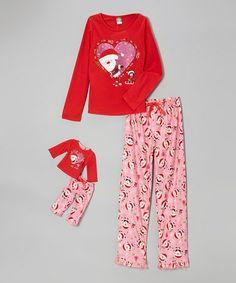 Dollie   Me Red Santa Pajama Set   Doll Outfit - Girls 98960dedb