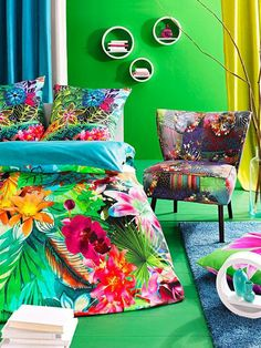 décoration maison tissu fleuri coloré - CôtéMaison.fr
