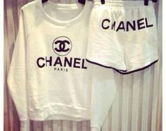 CHANEL graphic shorts (ALL Sizes AVAILABLE)