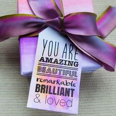 Downloadable gift tag to cut out and attach to a gift for your loved one.