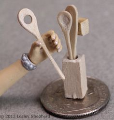 Practice Simple Carving Skills to Make a Set of Dollhouse Kitchen Tools