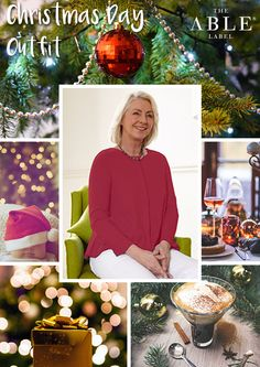 The Able Label Christmas Day outfit. Stella Top in red