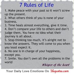 7 Rules of Life  1)