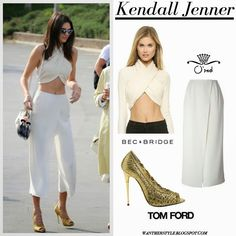 white tube top and trousers - Google Search