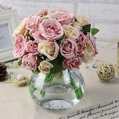 """1 Rama Seda / Plástico Peonías Flor de Mesa Flores Artificiales (5.9""""X 10.23"""") 3562752 2016 – €6.65"""