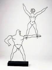 """Two Acrobats,"" wire sculpture by Alexander Calder, c.1928"