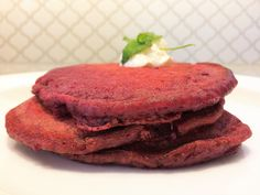 Pancakes red velvet sans colorant