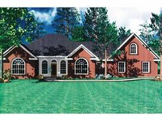 Home Plan HOMEPW13704 - 1855 Square Foot, 3 Bedroom 2 Bathroom + French Country Home with 2 Garage Bays | Homeplans.com