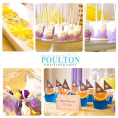 Rapunzel Birthday Party | Those little boats are so cute