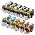 Canon PGI225  CLI226 Compatible Set of 12 Ink Cartridges: 4 Pigment Black PGI225, 2 each of CLI226 B/C/M/Y - http://dot-www.com/canon-pgi225-cli226-compatible-set-of-12-ink-cartridges-4-pigment-black-pgi225-2-each-of-cli226-bcmy/