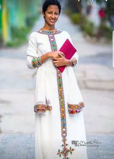 Minus the tilet in center running down African Print Dresses, African Wear, African Dress, African Fashion, Ethiopian Traditional Dress, Traditional Dresses, Habesha Kemis, Ethiopian Dress, Beautiful African Women