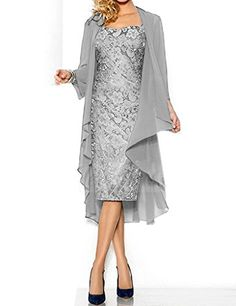 Shiningdress Womens Sexy Lace Mother Of The Bride Evening Dress Size16 Silver