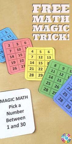 My students were totally in awe when I showed them how I could guess their number correctly every time with these magic math cards!