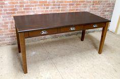 Elegant 3-drawer desk for home office space