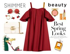 """""""Sin título #96"""" by thekeystylist on Polyvore featuring moda, H&M, Gucci, SkinCare, MAC Cosmetics, Anna October, ZeroUV y Tory Burch"""