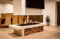 """Robeys on Instagram: """"Great to see these images of an installation of ours from last year! An Ortal Island 130 providing the perfect centrepiece for this…"""" Gas Fires, Centerpieces, Trends, Island, Mirror, Modern, Beautiful, Instagram, Home Decor"""