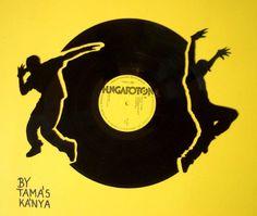 vinyl records art in hungary by tamas kanya