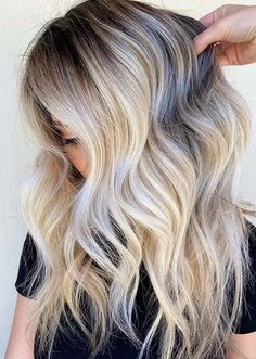 Unique Roooty Blonde Hair Color Trends for Women in 2020 Hair Color For Women, Cool Hair Color, Butter Blonde Hair, Glamorous Hair, Hair Color Highlights, Hair Painting, Beach Hair, Blonde Balayage, Hair Inspo