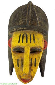 Bozo Mask Yellow with Large Headdress Mali African Art SALE WAS $99