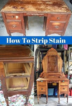 how to strip prepare old battered furniture for a makeover, how to, painted furniture