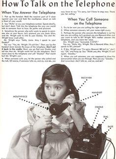 Vintage telephone etiquette  #etiquette #charmetiquette #manners #vintage  www.charmetiquette.com
