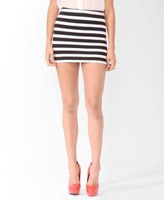 Striped Bodycon Skirt | FOREVER21 - 2070221941
