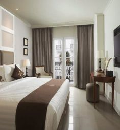 Adhisthana Hotel from $26 a Night Heritage Hotel, Yogyakarta, Beautiful Hotels, Best Hotels, Like4like, Curtains, Bed, Room, Night