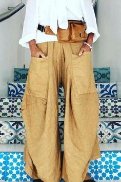 Women Loose Solid Casual Pants Baggy trousers justfashion Solid 1 Women Bottoms Lässige blaue Polyester-Unterteile – JustFashion The post Frauen lose feste beiläufige Hosen Baggy Hose appeared first on Frisuren Tips - Woman Fashion The Baggy Trousers, Wide Leg Pants, Wide Legs, Slacks, Pant Jumpsuit, Look Fashion, Fashion Outfits, Womens Fashion, Fashion Styles