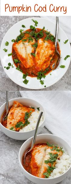 Pumpkin and Cod Curry