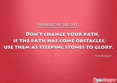 #thoughtoftheday #thought Don't get abstain by obstacles