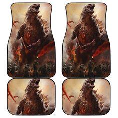 Godzilla Car Mats Car Mats, Car Floor Mats, Godzilla, Daily Wear, Flooring, How To Wear, Printing, Free, Technology
