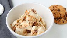 zelfgemaakt bananen, cookie ijs