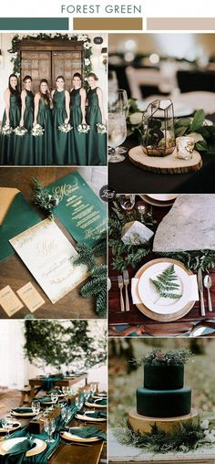 moody industrial geometric forest green and gold modern wedding colors wedding groomsmen 6 Beautiful Greenery Wedding Color Combos in Green Shades for 2019 Emerald Wedding Colors, Emerald Green Weddings, Wedding Colors Green, Green Theme, Olive Green Weddings, Forest Green Weddings, Forest Wedding Decorations, Wedding In Forest, Green Wedding Centerpieces