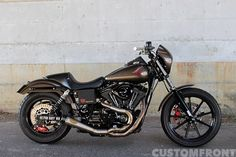 Custom Harley-Davidson FXDL Dyna Glide 2003 by Far East Wheels | RSD exhaust system | One-off seat | Brembo brake system | Öhlins rear shock absorbers | MoonEyes turn signals | Japan