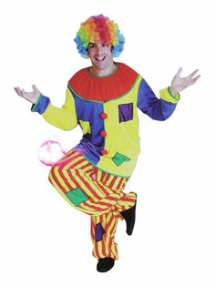 Big Top Clown Circus Funny Dress Up Adult Halloween Costume For Fancy Dress Halloween Costumes Kylo Ren Halloween Costume, Circus Halloween Costumes, Halloween Men, Halloween Fancy Dress, Halloween Outfits, Halloween Party, Clown Costumes, Superhero And Villain Costumes, Circus Outfits