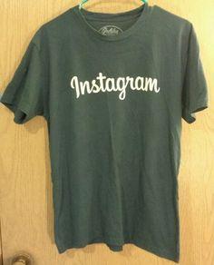 Men's MEDIUM #Instagram Blue SS T-shirt Golden Goods San Francisco ECO Freindly #GoldenGoodsUSA #GraphicTee
