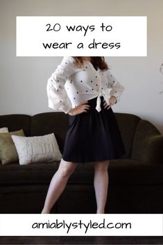 20 Dress Outfit Ideas (in honor of Dressember) - Amiably Styled Sweater Outfits, Dress Outfits, Fashion Outfits, Fashion Tips, Dress Shoes, Shoes Heels, Preppy Style, Edgy Style, Classy Style