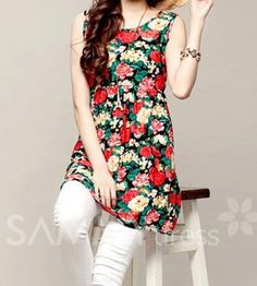 $6.28 Floral Print Scoop Neck Color Block Casual Sundress For Women