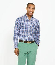Men's Sport Shirts: Slim-Fit Button Down Shirt: Elliot Plaid – Whale Collection - Vineyard Vines