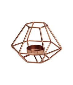 Check this out! Metal tea light holder. Height approx. 3 1/4 in., width  5 in. - Visit hm.com to see more.