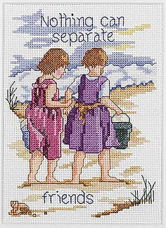 Nothing Can Separate Friends (counted cross stitch kit)