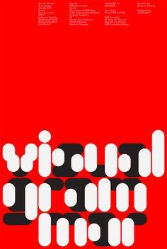 Wim Crouwel poster by MuirMcNeil http://decdesignecasa.blogspot.it