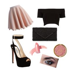 """""""Untitled #35"""" by alva-hillborg ❤ liked on Polyvore featuring Chicwish, Elizabeth Arden, Prada, Accessorize and Milani"""