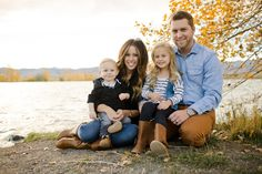 Fall waterfront family session // Photo by Angie Wilson Photography