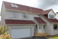 3 storey extension at Milltimber, Aberdeen.<br /> Lower ground: utility room, double garage & craft room.  1st floor: master bedroom and en-suite.<br /> Loft: new double bedroom.  Also, new front porch and dormer on the front elevation.
