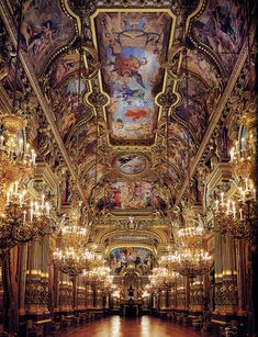 The Paris Opéra: Charles Garnier's Opulent Architectural Masterpiece.  The Grand Foyer comprised the largest and most complex decorative program in the Opéra's interior.