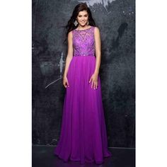 Nina Canacci 1330 Prom Dress 2017 Long High Neckline Sleeveless ($298) ❤ liked on Polyvore featuring dresses, formal dresses, magenta, glitter prom dresses, long prom dresses, long formal dresses, ball dresses and glitter dress