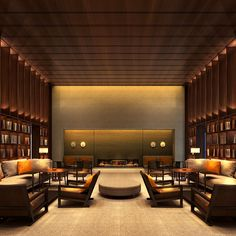 hotel lounge The PuXuan Hotel and Spa Lounge Design, Lounge Decor, Gym Design, Hotel Conference Rooms, Lounge Lighting, Hotel Lounge, Interior Architecture, Interior Design, Lobby Design