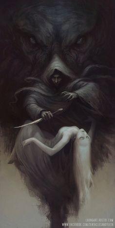 dark art Cthulhu Sacrifice Limited Edition Archival Print Signed and Dark Fantasy Art, Fantasy Artwork, Cthulhu, Art Sinistre, Image Pinterest, Art Noir, Beautiful Dark Art, Arte Obscura, Creepy Art